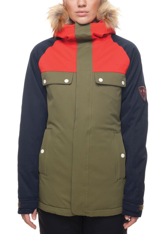 Куртка женская 686 Dream Insulated Fatigue Colorblock L7W310