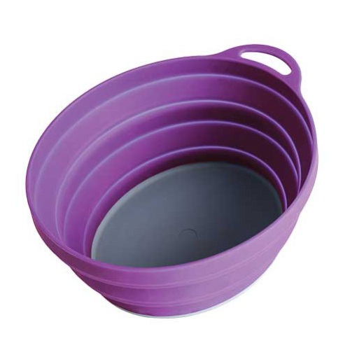 Купить Тарелка Silicone Ellipse Bowl Lifeventure Purple 75515