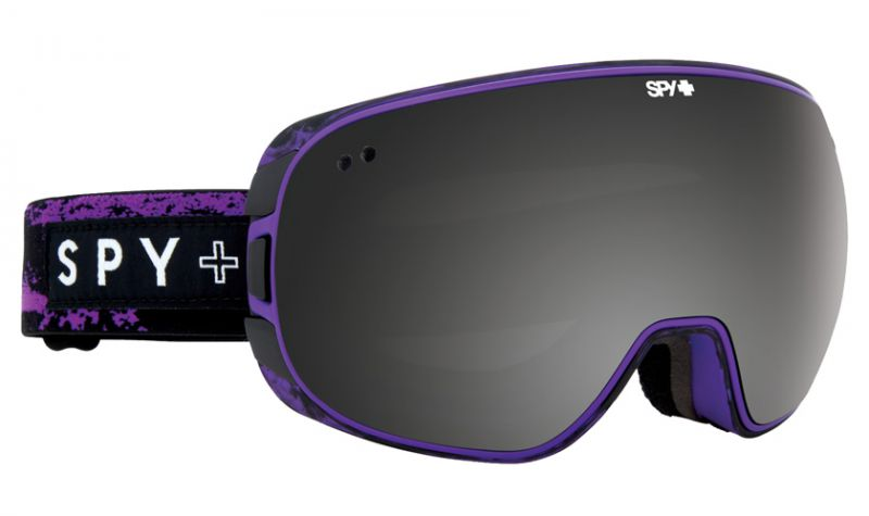 Очки горнолыжные Spy Doom Masked Purple Grey/Black Mirror+Pink Contact D16